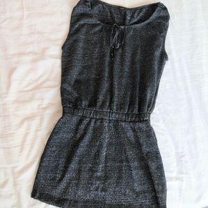 Dresses & Skirts - Black self shimmer mini dress
